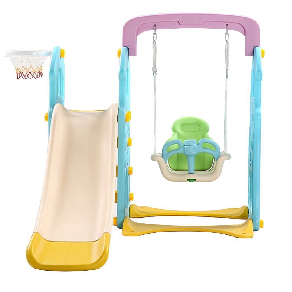 Zhangbangqiangshop Kinder Rutsche Kinder Indoor Rutsche Multifunktions-Haushalt Baby Rutsche Kombination Kindergarten Schaukel Fitness Spielzeug (Farbe   Gelb, Größe   114  65  42CM) Gelb 1146542CM