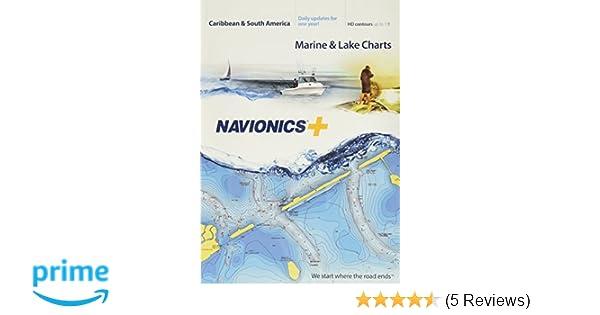 Navionics Caribbean & S  America, SD Card Nautical Chart on SD/Micro-SD  Card - MSD/NAV+3XG