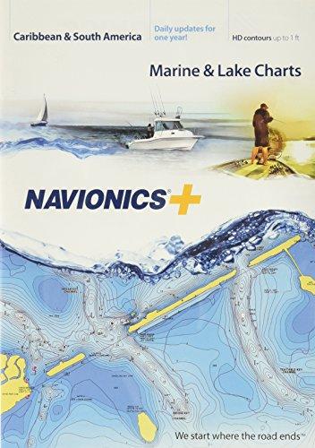 Navionics Caribbean & S. America, SD Card Nautical Chart on SD/Micro-SD Card - - Buffalo America