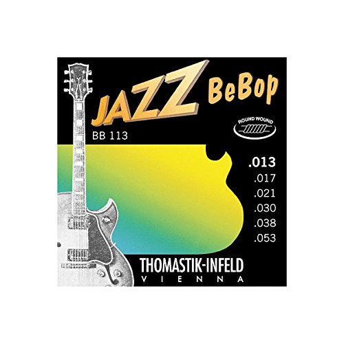 Thomastik-Infeld BB113 Jazz Guitar Strings: Jazz Bebop Series 6 String Set - Pure Nickel Round Wounds E, B, G, D, A, E Set