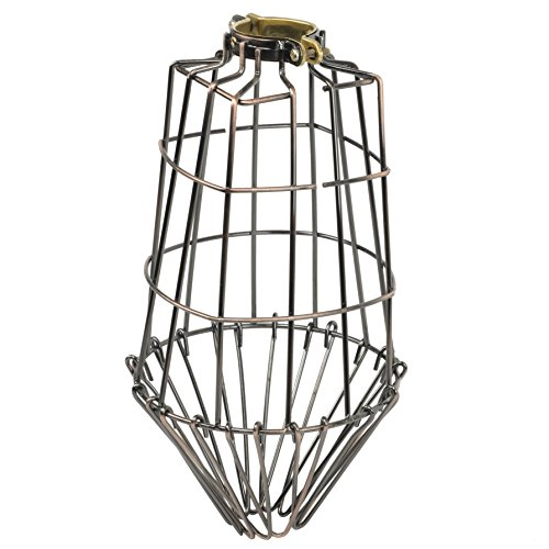 ArtifactDesign Long Metal Wire Light Cage Guard for Pendant Lamps (Hand Painted Flowers Pendant Lamp)