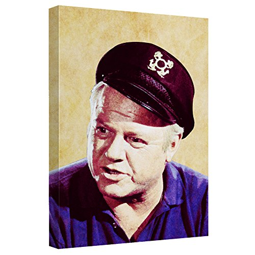 Gilligan's Island Alan Hale Jr. Print on Canvas