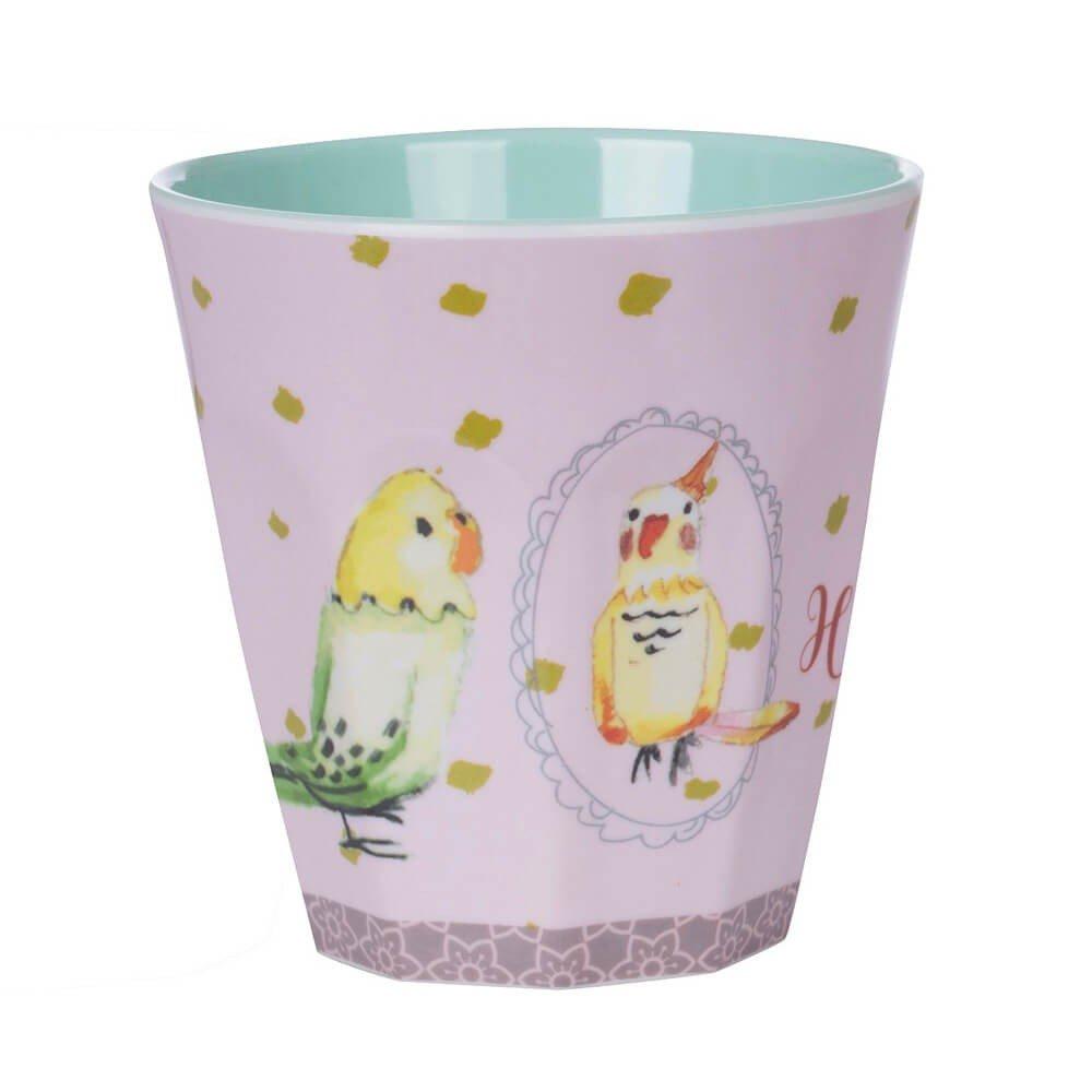 Overbeck and Friends Coco Hello Love Melamin Becher flieder//mint//gelb 250 ml Kindergeschirr Trinkbecher Kunststoff sp/ülmaschinenfest BPA frei