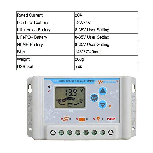 DPJ 3A/10A/20A/30A 6V 12V 24V 48V 60V 3.7V 12.8V 25.6V 11.1V 14.8V 22.2V LI-ION NI-MH LiFePO4 Battery Solar Panel Charge Controller (SL03-20A)