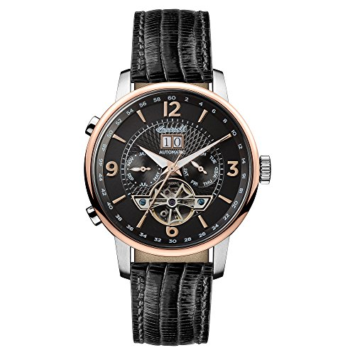 Ingersoll Men's Automatic Stainless Steel and Leather Casual Watch, Color:Black (Model: I00702)