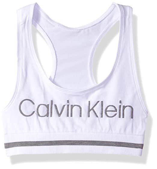 e4edd8e8c9 Amazon.com  Calvin Klein Girls Seamless Sports Bra  Clothing