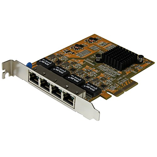 - StarTech.com 4-Port PCI Express Gigabit Network Adapter Card - Quad-Port PCIe Gigabit NIC