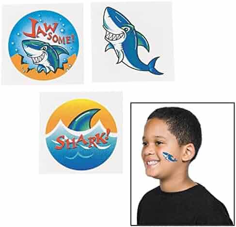 72 ~ Shark Temporary Tattoos ~ Approx. 1.5
