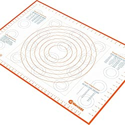 "Extra Large Silicone Pastry Mat with Measurements and Conversion Charts, 29.6"" x 20.5"" Non-Stick Non-Slip, XL Fondant Mat for Rolling Dough"