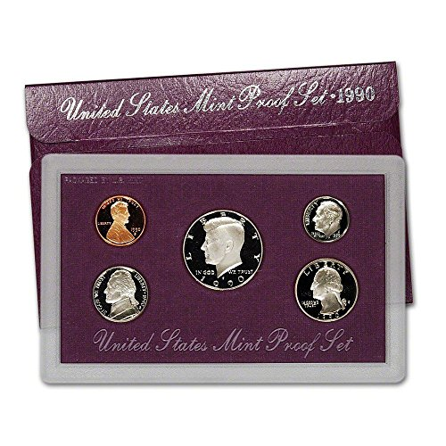 Deep Cameo Proof Roosevelt Dime - 1990 S US Mint 5-Piece Proof Set Proof OGP