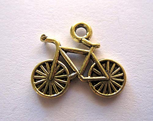 - Unique Selection Charms Bicycle Charms 2 Sided Antique Gold Bicycle Alloy Charms Findings Jewelry Supplies Lot of 4