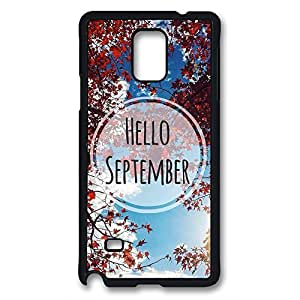 Samsung Galaxy Note 3 Case, iCustomonline Hello September Protective Back Cover Case for Samsung Galaxy Note 3 N9000 Black