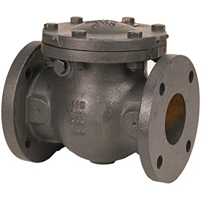 "NIBCO F-918-B Cast Iron Irrigation Check Valve, Horizontal Swing, Class 125, Bronze Seat, 2-1/2"" Flanged from NIBCO"