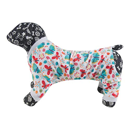 Image of CuteBone Dog Pajamas Flamingo/Pink Pig Dog Apparel Dog Jumpsuit Pet Clothes Pajamas Puppy Clothes P54L