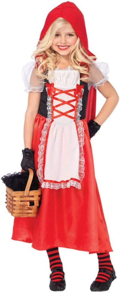 HS-ZM-06 Disfraz De Halloween para Niña Little Girl Red Supplies ...