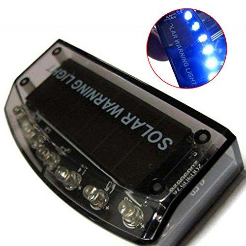 Adealink 6LED Auto Solar Charger Car Burglar Alarm Lamp Sensor Security Warning Light