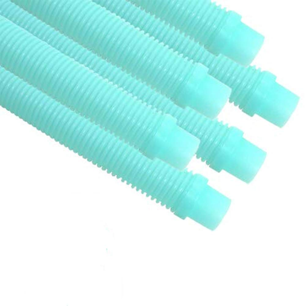 Puri Tech 6 Pack Universal Pool Cleaner Suction Hose 48'' Inches Long Aqua Color for Kreepy Krauly, Baracuda G3/G4, Navigator, More Universal Fit 4' Feet Long by Puri Tech