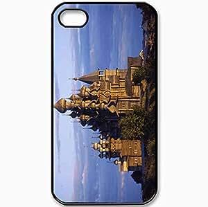 Protective Case Back Cover For iPhone 4 4S Case Kizhi Church Faith Religion Black
