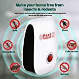 [2018 UPGRADED] Pest Control Ultrasonic Pest Repeller, Set of 6 Electronic Plug In repellent indoor for Insects, Mosquitoes, Mice, Spiders, Ants, Rats, Roaches, Bugs, Non-toxic, Humans & Pets Safe