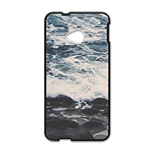Canting_Good Sea Beautiful Beaches Custom Case Shell Skin for HTC One M7(Laser Technology)