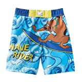 Toddler Boys Scooby-Doo Swim Trunks Blue Wave Rider Board Shorts 2T
