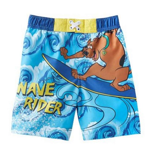 - Toddler Boys Scooby-Doo Swim Trunks Blue Wave Rider Board Shorts 2T