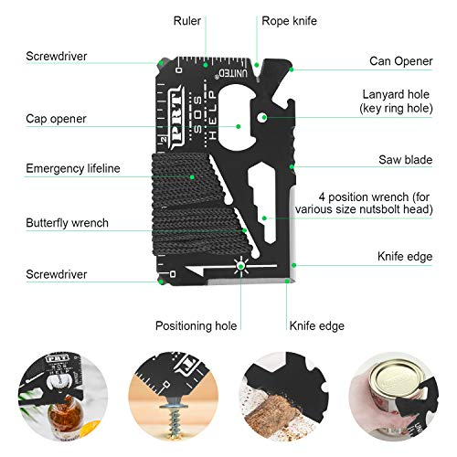 Tolaccea Survival Kit 17 in 1 Survival Gear for Hiking Camping Hunting Fishing Backpacking Travel Adventures