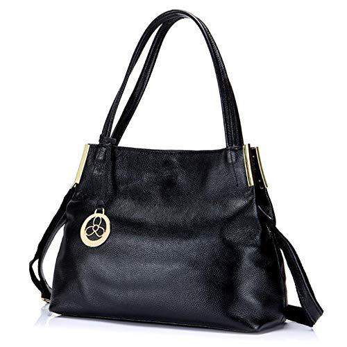Grote eenvoudig zwart Midden en Lady Vrouw kleur Nieuwe Veelzijdig casual leeftijd Bag capaciteit grote effen fawSnY0