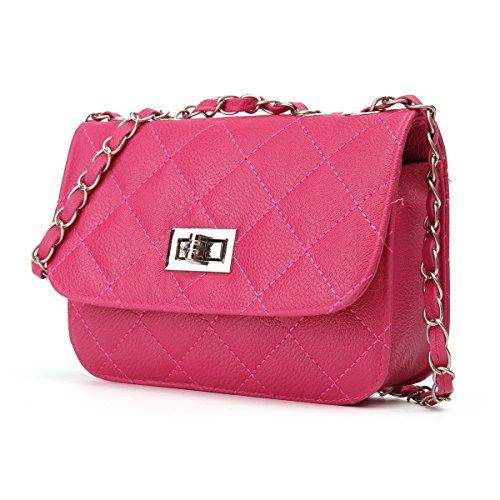 with Evening Chain Rose Handbag Bag Beige Purse Shoulder Bag OURBAG Crossbody Women Leather Mini Envelope Strap Zwz7PqRzn