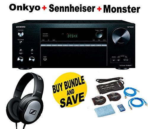 Onkyo-Powerful-Audio-Video-Component-Receiver-Black-TX-NR676-Monster-Home-Theater-Accessory-Bundle-SENNHEISER-HD206-Bundle