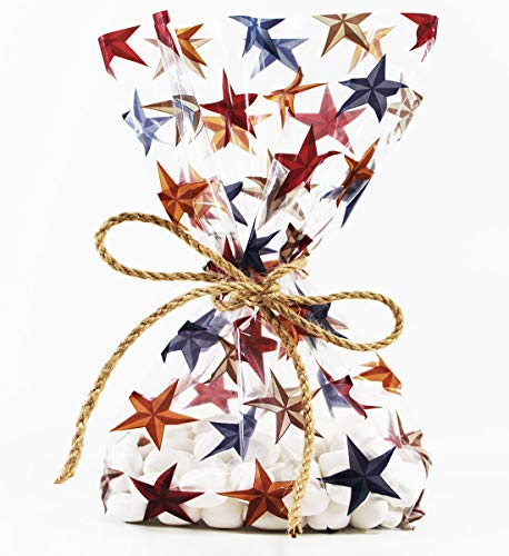 Rustic Western Stars Cellophane Treat Party Favor Bags
