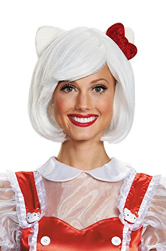 Disguise Women's Hello Kitty Adult Costume Wig, White, One Size -