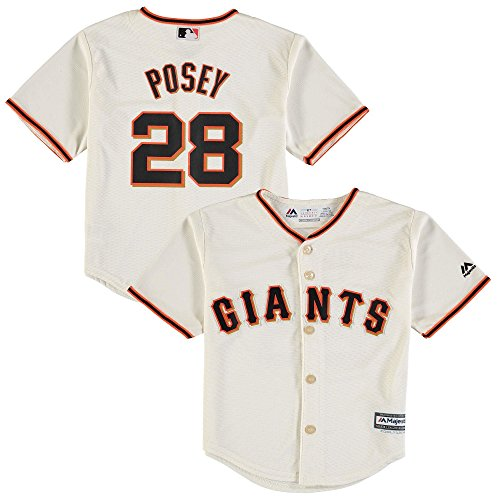 Outerstuff Buster Posey San Francisco Giants #28 Kids 4-7 Cool Base Home Jersey (Kids Medium ()