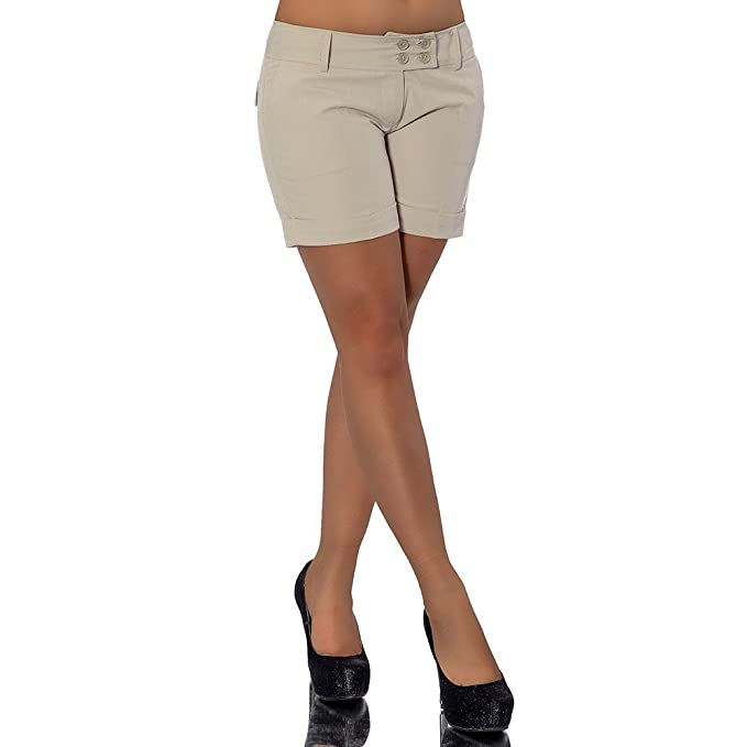 G533 Damen kurze Hose Stoffhose Business Hot Pants Shorts Panty Classic Short