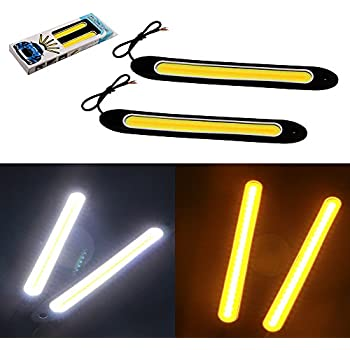Fashion Style New!2*10 Led Cob Drl Fog Lights Flexible Silicone Daytime Running Lights Waterproof 10w Super Bright Led Fog Light Car Styling Automobiles & Motorcycles Car Lights
