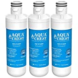 AQUACREST MDJ64844601 Refrigerator Water Filter, Compatible with LG LT1000P, LT1000PC, LT1000PCS, ADQ74793501, ADQ74793502, Kenmore 469980, 9980 (Pack of 3)