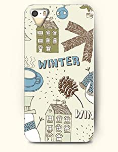 OOFIT Phone Case design with Green House and a Cup of Hot Coffee - Winter for Apple iphone 5 5s 5g