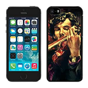 Unique And Antiskid Designed Cover Case For iPhone 5C With Violin Art Black Phone Case