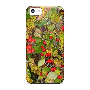 Slim Fit Tpu Protector Shock Absorbent Bumper Forest Fruits Case For Iphone 5c