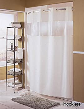 Hookless Fabric Shower Curtain - Major White - 71x77