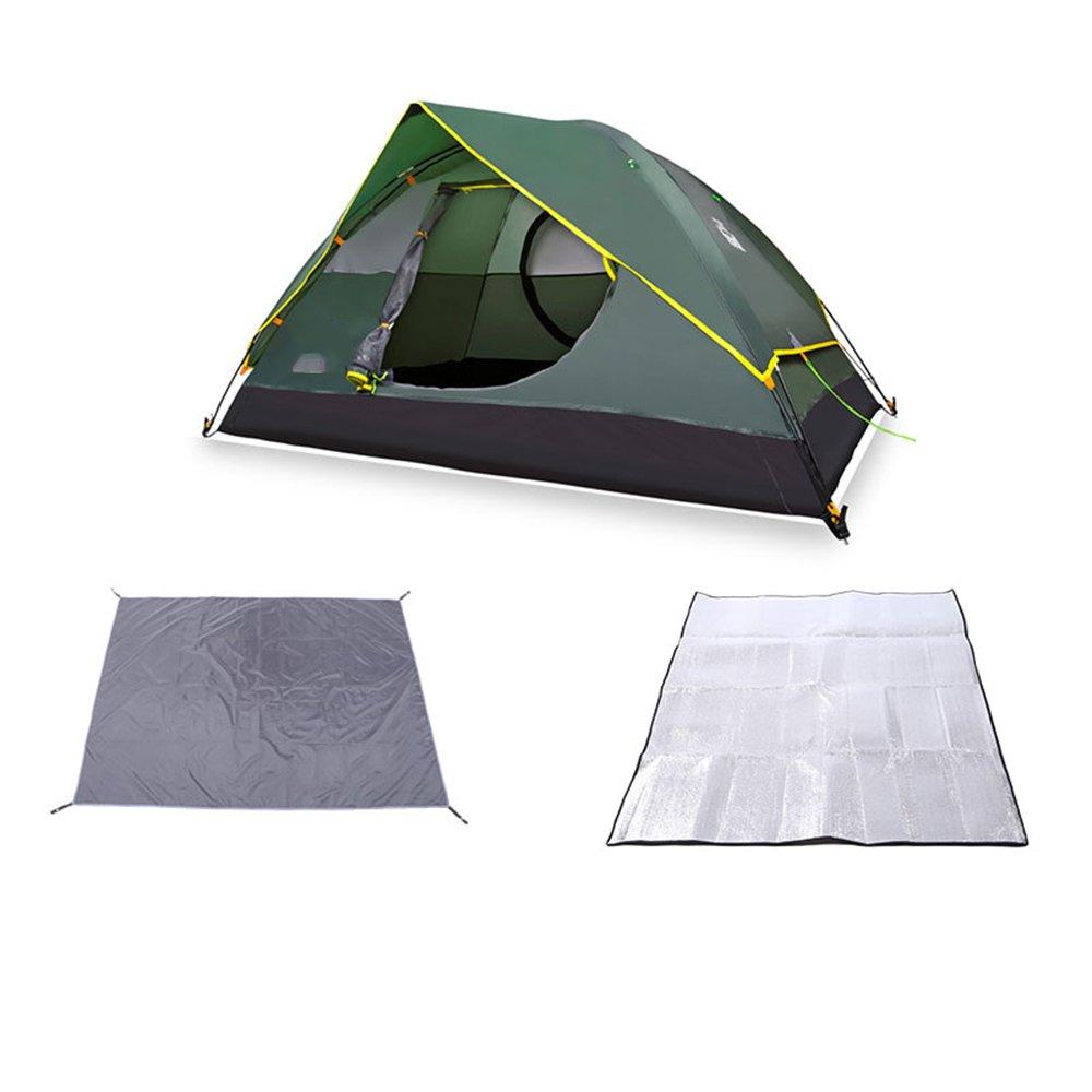 QFFL zhangpeng テントダブルレインストーム折りたたみテントダブル野生のキャンプ用具テント トンネルテント (色 : B)  B B07C4T6JP9