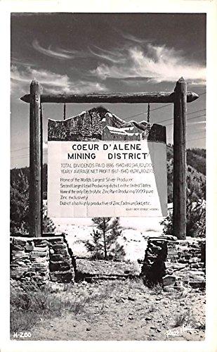 Mining District Coeur Dalene  Idaho Postcard