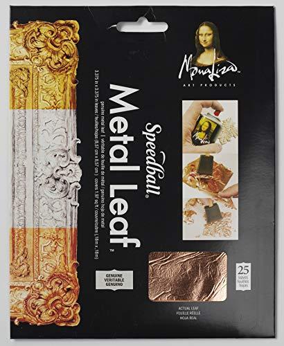 Speedball 10205 Mona Lisa Genuine Copper Leaf, 25 Sheet -