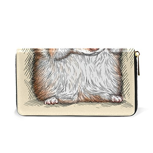 TIZORAX Zip Shy And Clutch Organizer Womens Handbags Wallet Hamster Purses Engrave Around CCwzx50nr