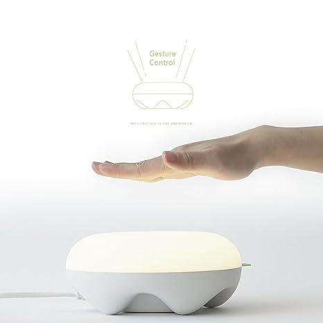 tobeape Sensor LED lámpara de mesa con doble cargador USB ...