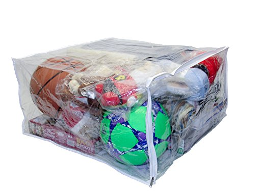 Oreh Homewares Jumbo Heavy Duty Vinyl Zippered Storage Bags (Clear) for Sweaters, Blankets, Comforters, Bedding Sets and Much More! (23