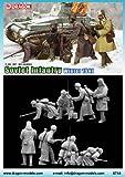 Dragon Models Soviet Infantry Winter 1941 Building Kit, Set of 4, 1/35-Scale