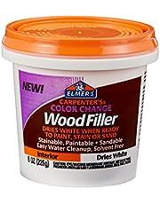 Elmer's Carpenter's Color Change Wood Filler, 16 oz, White (E917)