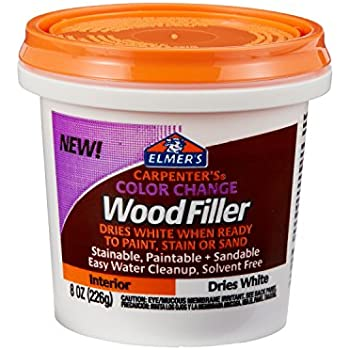 Elmer 39 S Carpenter 39 S Color Change Wood Filler 8 Oz White E916 Office Products
