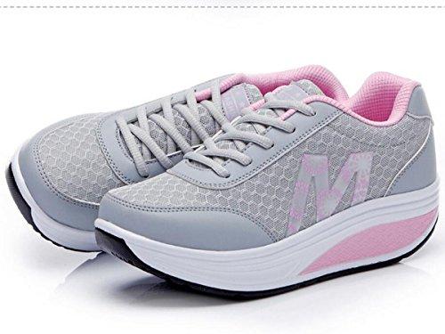 QZBAOSHU Verano / Invierno De las mujeres Moda Zapatillas Atlético Paseo en barco Zapatos Plataformas Deporte Sandalias para Mujer 7(Estilo de invierno)